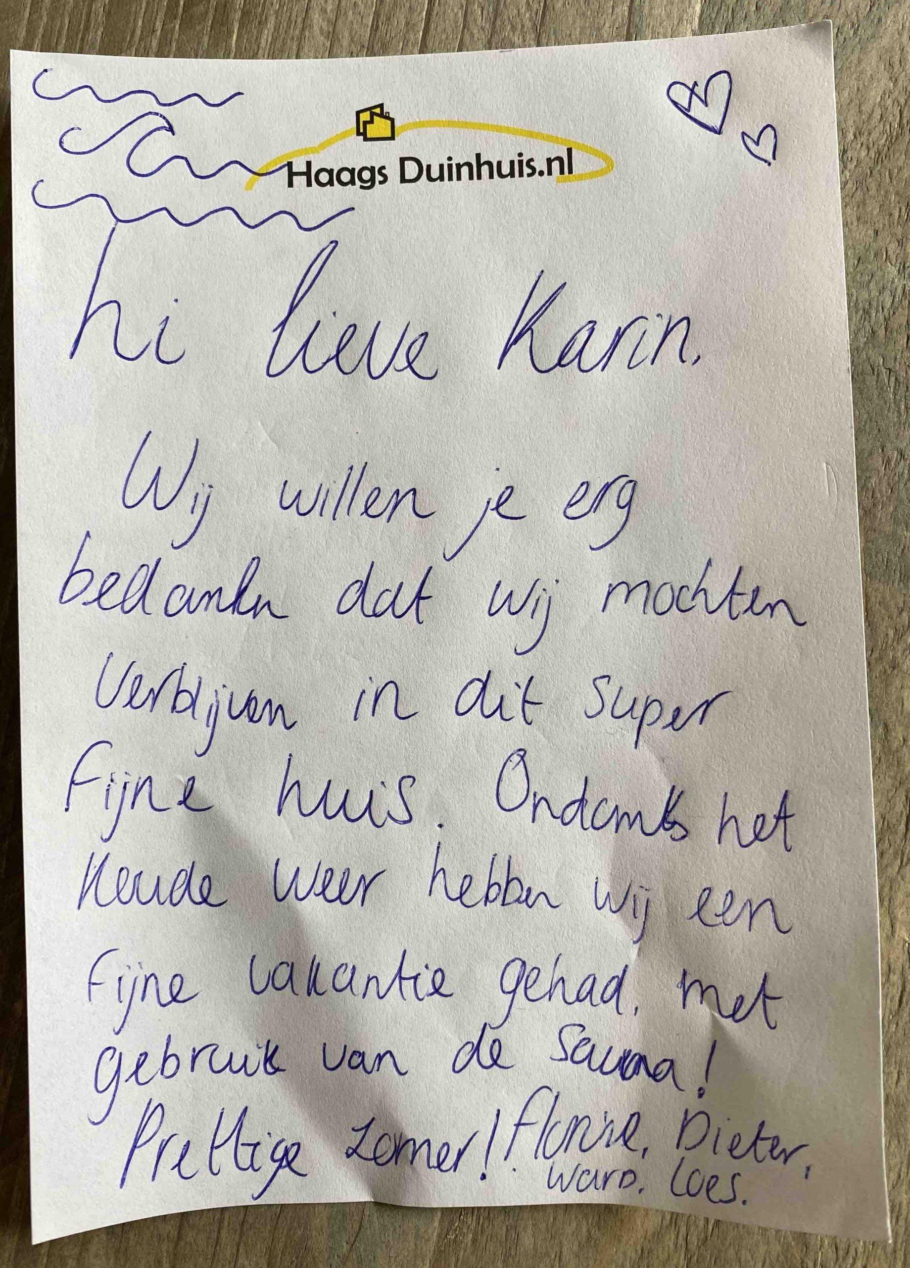 Ervaringen HaagsDuinhuis